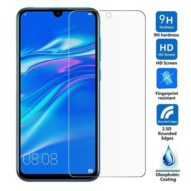 2 pièces verre trempé pour Huawei Honor 10i 8A 10 Lite 8C 8X Play P20 P30 Pro P Smart 2019 Film protecteur décran