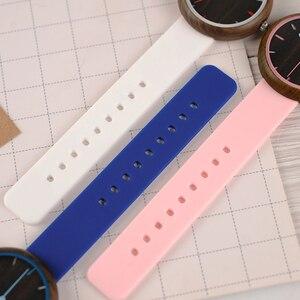 Image 4 - Relogio Feminino Bobo Vogel Hout Vrouwen Horloges Siliconen Band Quartz Horloges In Houten Geschenkdoos Reloj Mujer Drop Shipping