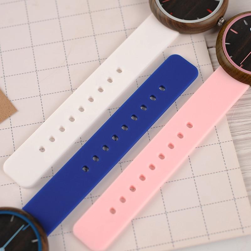Image 4 - relogio feminino BOBO BIRD Wood Women Watches Silicone Band Quartz Wristwatches in Wooden Gift Box reloj mujer Drop ShippingWomens Watches   -