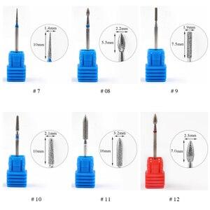 Image 4 - 1 sztuk wiertła z węglika wolframu Nail Art 17 rodzaje 3/32 frezowanie Manicure frez do Pedicure urządzenie elektryczne obrabiarki gratowania