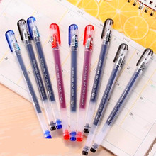 12 Pcs/lot New Cute Gel Pen 0.38mm black red blue ink Diamond Head Factory Direct Creative Stationery Gift School Supplies