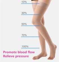 Calcetines de compresión para médico, calcetín de venas varicosas, 30 40mm, Hg, elásticos, de enfermería, de 3 ° grado, por encima de la rodilla