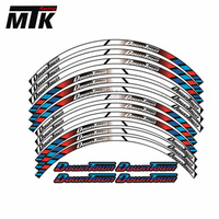 MTKRACING 12 X Thick Edge Outer Rim Sticker Stripe Wheel Decals Motorcycle FIT For KMYCO DownTown 300i 350i