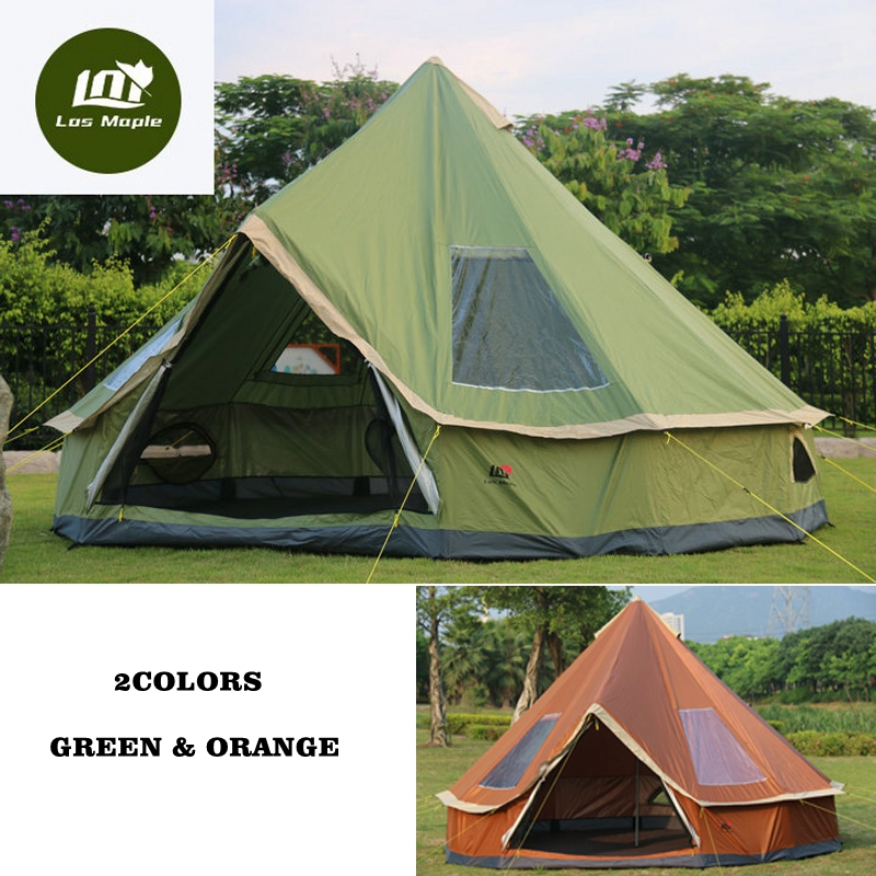High quality 5-8 person Mongolia yurt family travel hiking anti mosquito sun shelter awning canopy beach outdoor camping tent 5 6 person huge 2 layer automatic rainproof sunshade shelter hiking travel fishing beach family awning outdoor camping tent