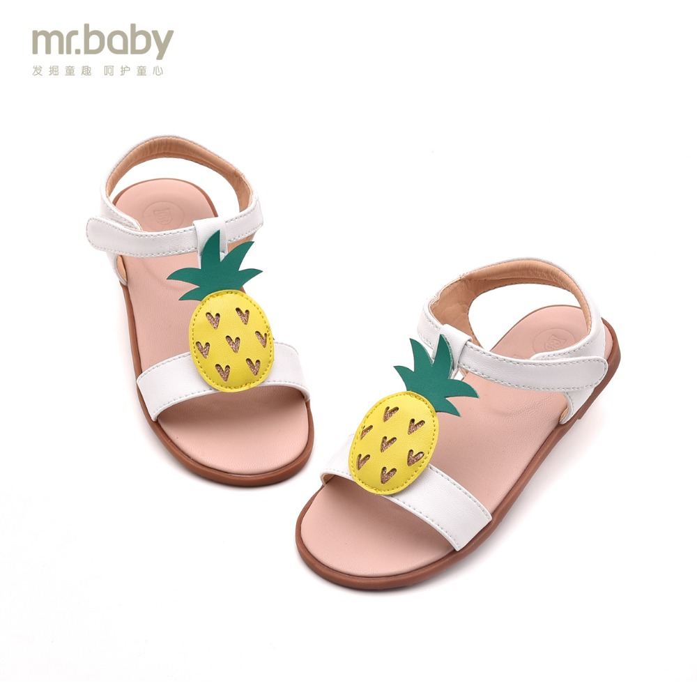 Mr.baby Original kids shoes 2018 New Summer Fun Sweet Pineapple Princes Children Girl Sa ...