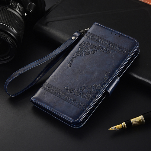 Flip Leather Case For Huawei Y7 2018 Y7 Prime 2018 Fundas Printed Flower 100% Special wallet case TPU case