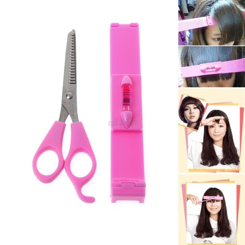Women Girl Fashion Clipper Fringe Hair Cutting Guide Layer Bang Level Ruler Tool S04 Drop ship ...