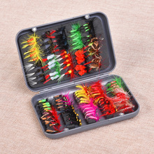 20 Color 100pcs Fly Fishing Insect Hook Box Shape Fish Tackle With PVC For River Lake Rock Boat Isca