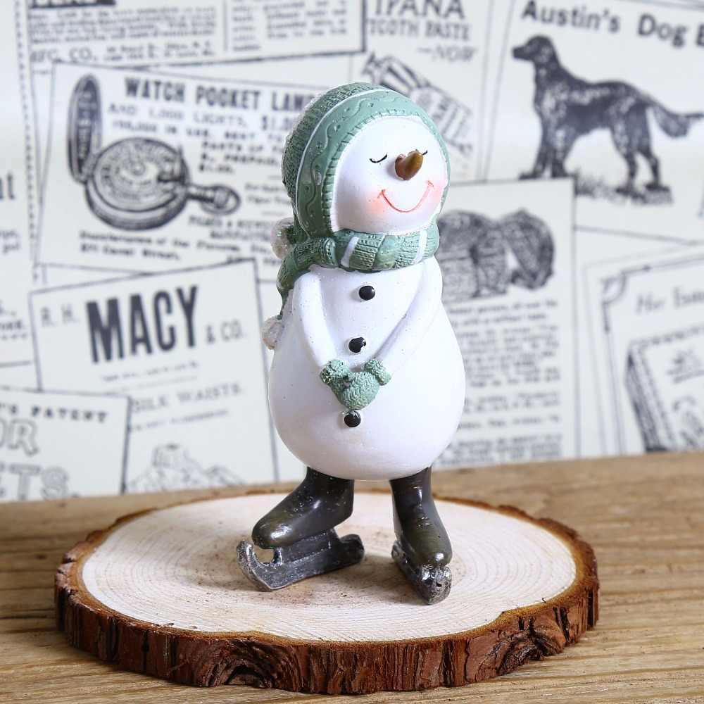 手仕事家の装飾ミニチュア置物樹脂かわいい雪だるまモデル家具クリスマスクラフト記事子供のクリスマスプレゼント