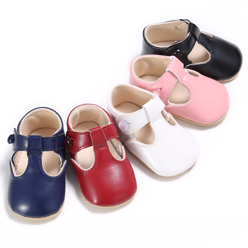 New Sweet Casual Princess Girls shoes Pu Leather Solid Crib baby moccasins Infant Toddler Cute Ballet Mary Jane Shoes 0-1T