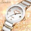 SUNKTA женские часы Топ люксовый бренд Модные женские водонепроницаемые часы женские спортивные часы имитация кварцевые часы Zegarek Damsk