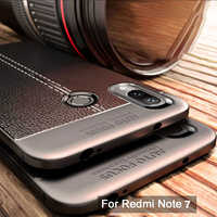 Funda para Xiaomi Redmi Note 7 funda TPU silicona patrón Litchi parachoques suave funda protectora para Redmi Note 6 Pro Note 5