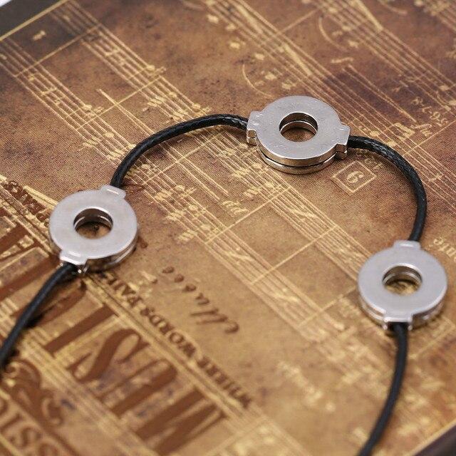 Naruto Akatsuki Uchiha Titanium Steel Itachi Cosplay 3 Loops Necklace