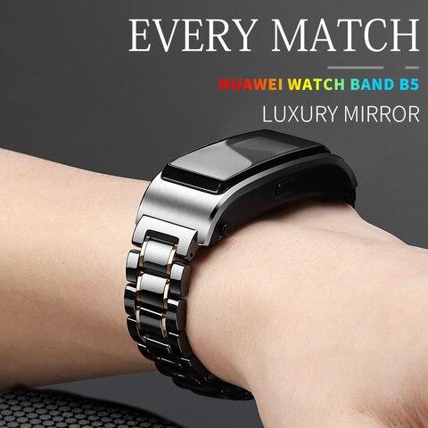 Cerâmica para Huawei Relógio de Honra Cinta Talkband Assista 1 s1 Relógio Inteligente Substituição Liberação Rápida Ajustável Tamanho 18mm b5 –