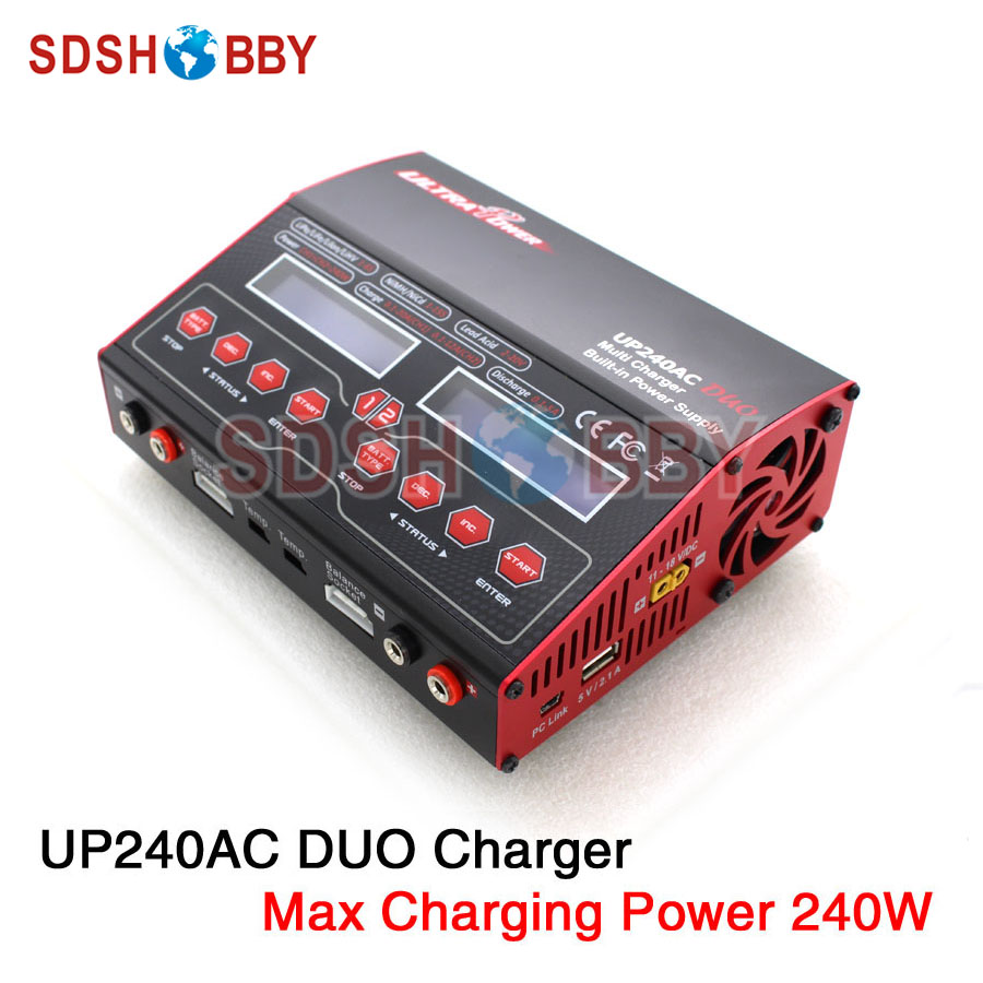 UP240AC DUO Charger 240W RC Model Airplane Multicopter LiIo/LiPo/LiFe/LiHv/NiCd/NiMH/ Pb Battery Charger ultra power up100ac duo 100w cyclic charging discharging liio lipo life nimh nicd battery balance charger discharger