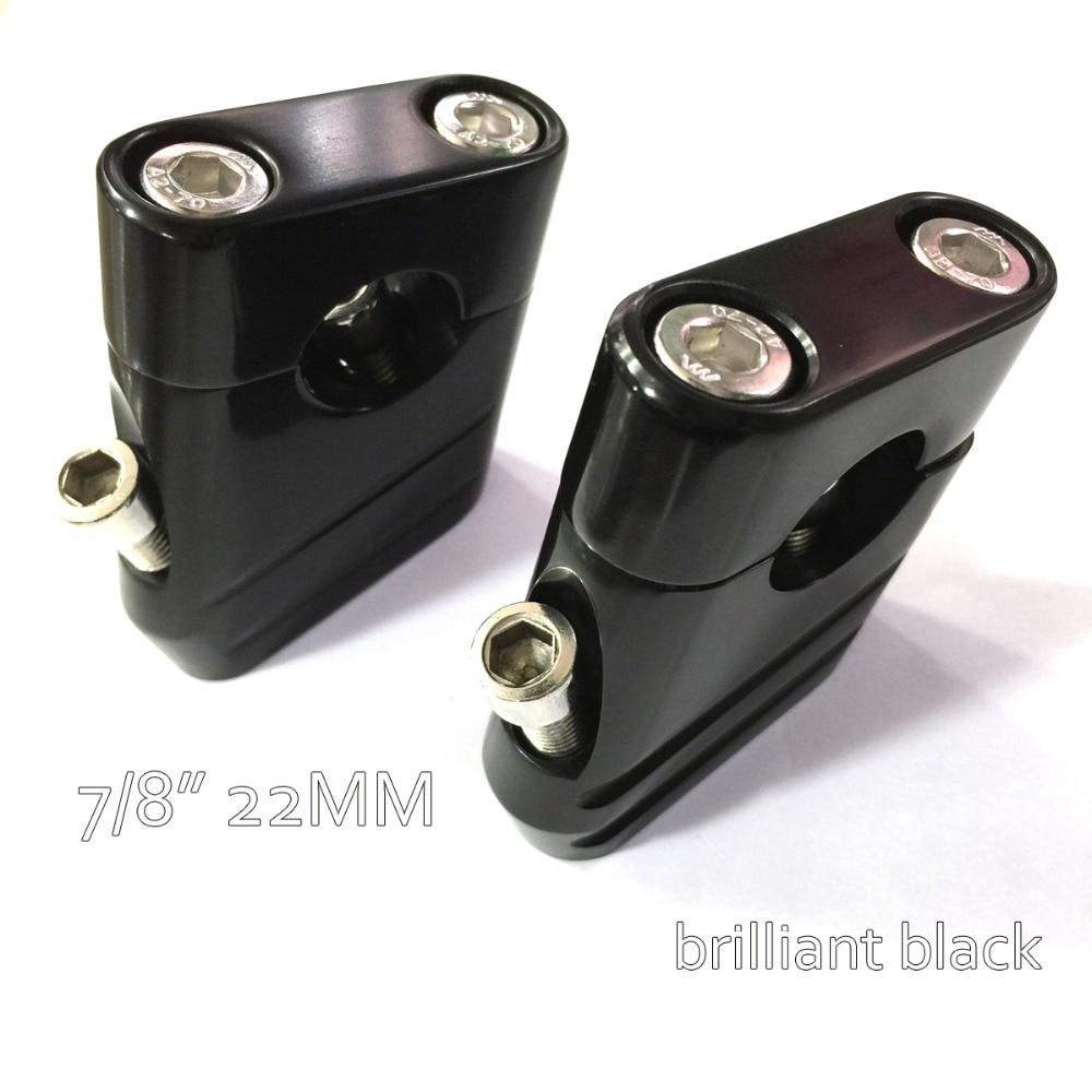 Brilliant Black Universal Bike Handlebar Riser Clamp Taper 7/8 22mm motorcycle parts