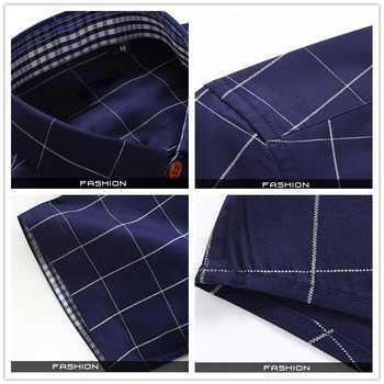 Plus Size 5XL 2019 Summer Fashion Men\'s Short Sleeve Cotton Social Shirts Plaid Checked Shirt for Men Brand Chothing