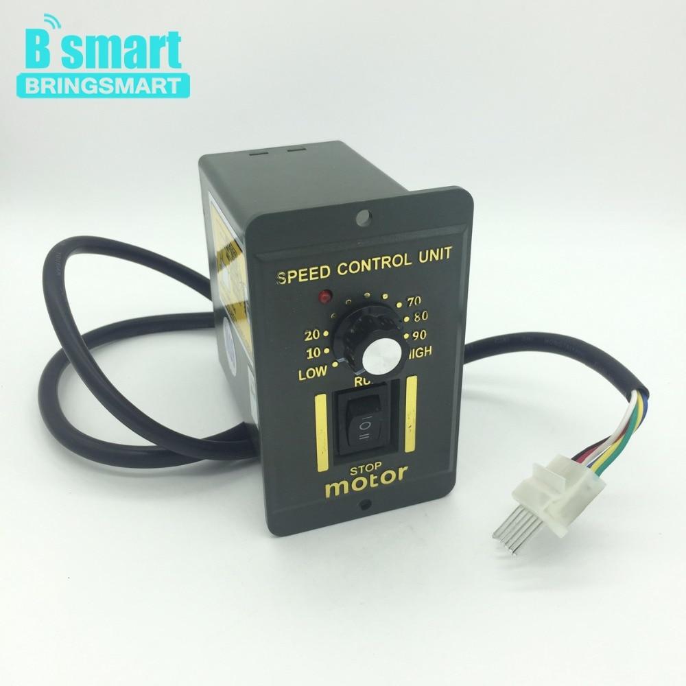 Bringsmart 220V AC Gear Motor Adjust Speed Controller Reversing AC Motor Speed Controller Mini Speed Regulation for Motor