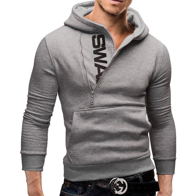 Fashion Mens Hoodies Long Sleeve  Pullover Men Hooded Sweatshirt
