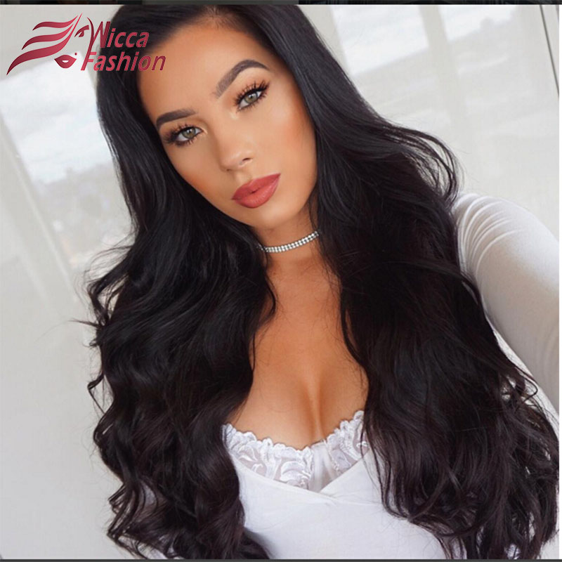 Wicca Fassion 180% Density Pre Plucked Full Lace Human Hair Wigs With Baby Hair Brazilian Non-Remy hair For Black Women