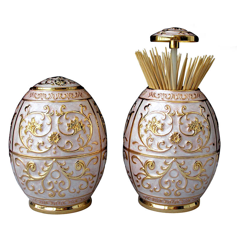 European Style Holder Vintage Container Table Decoration Automatic Toothpick Box