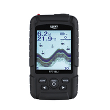 LUCKY FF718Li Portable LCD Fish Finder Wired Wireless Depth Sonar Sensor Sounder Alarm Transducer 100M De Pesca