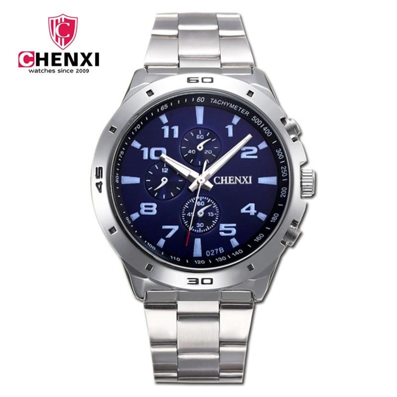 Fashion Men Watches Unique Stylish Male Sport Casual Dress Sport Wristwatch Waterproof Big Dial Silver Mens Clock Best Gift