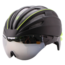 280g Goggles Cycling Helmet Insect Net Bicycle Helmet With Lens Double Layers In-mold Bike Helmet 28 Air Vents Casco Ciclismo