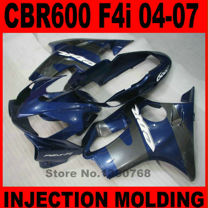 Customize fairing kit for HONDA CBR 600 F4i 2004 2005 2006 2007 blue gray fairings set CBR600 04-07 BG35 игрушка ecx ruckus gray blue ecx00013t1