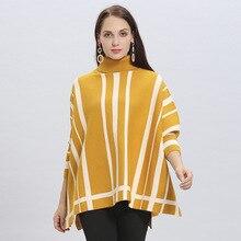 Новое модное зимнее теплое пончо для женщин/дамское плотное с рисунком паука сплошные шали и накидки высокий Q вырез