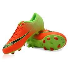 Nueva llegada zapatos de fútbol botas de fútbol al aire libre Original FG  Naranja Total tobillo aad6fe5ad64e8