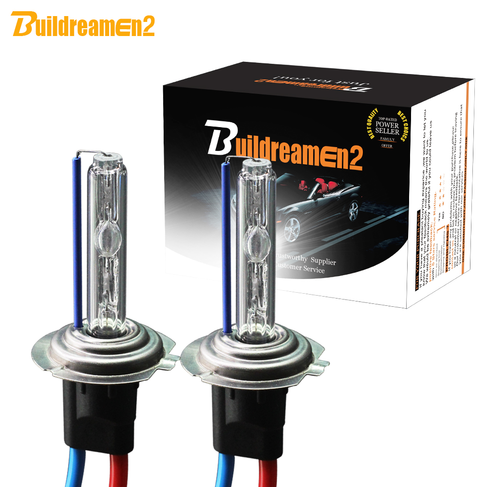 Ксеноновая лампа Buildreamen2 H1 H3 H7 H8 H9 H11 9005 HB3 9006 HB4 880 881 55 Вт, 12 В, автомобильная фара, противотуманная фара 3000K 4300K 6000K 8000K
