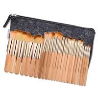 25 Pcs Makeup Brush Rose Tube Brown Hair Set Facial Mask Foundation Cosmetic Eyeshadow Eyebrow Make
