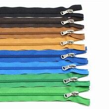 5# Metal Bronze Zipper Close-end Auto Lock DIY Bag Purse Boots Zipppers Garment Accessories 40cm/60cm/70cm 10 pcs/lot