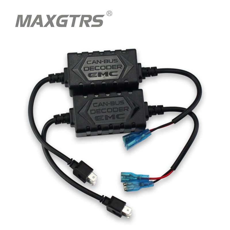 2x H1 H4 H7 H8 H11 H13 9005 9006 9004 9007 9012 EMC Car LED HID Decoder Canceller Canbus Headlight Fog Light DRL IC No Error