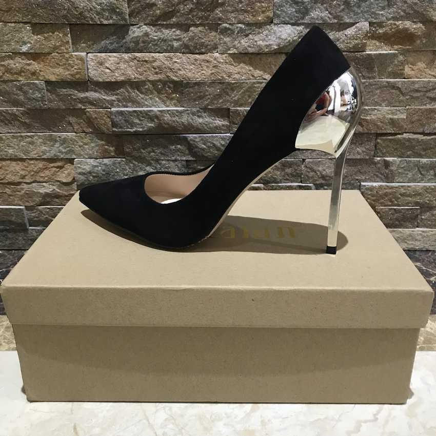 2018 Marka Ayakkabı Kadın Seksi Yüksek Topuklu Kadın Pompaları Stiletto Ince Topuklu kadın ayakkabısı Sivri Burun Yüksek Topuklu Parti Düğün Ayakkabı