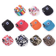 a983988079b51 Pet Dog Hat Summer Sun Hats Outdoor Baseball Cap Canvas Oxford Puppy Hat  Dog Accessories for