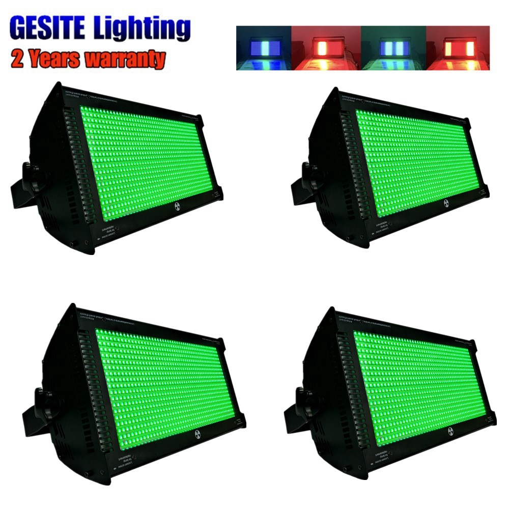 4pcs Video Show! CE ROHS FCC 1000w Strobe RGB 3in1 LED White color Always Bright Strobe High Brightness LED Stage Lighting