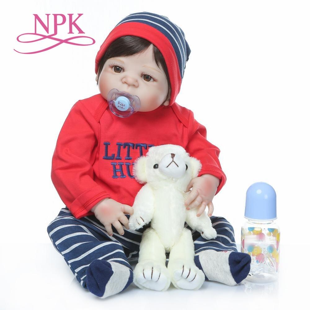 Original NPK 22''silicone complet du corps lol boneca reborn corpo de silicone bebe poupée reborn bébé poupées doux touh cadeau de noël