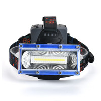 Super High Power COB Led White Blue Red Light Headlight 3 Mode USB Emergency Headlamp H0T0