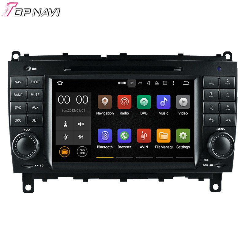 7 Quad Core font b Android b font 5 1 1 Car Radio For CLK W209