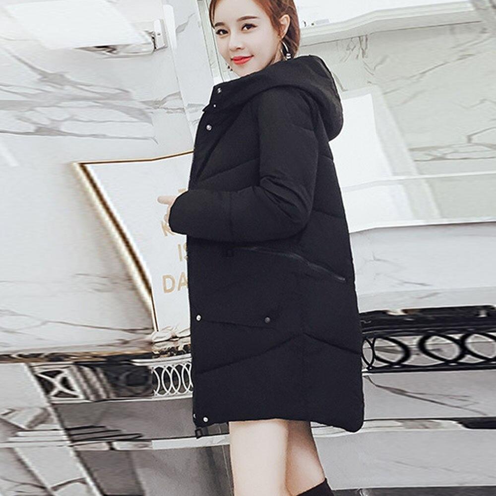 Survêtement Femme rouge À Manteau Veste Poche Coton Abrigo gris Capuchon Long rembourré A8 Vestes blanc Manteaux Noir Épaississement Mujer Bouton Femmes fgwxPqdd