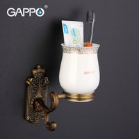 GAPPO 1 Set High Quality Zinc Alloy Cup Holder Cetamic Cups Wall Mount Bathroom Accessories Single
