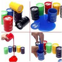 1 Pcs Random Color New Barrel Slime Fun Shocker Joke Gag Prank Gift Toy Crazy Trick Party Supply Paint Bucket Novelty Funny Toys