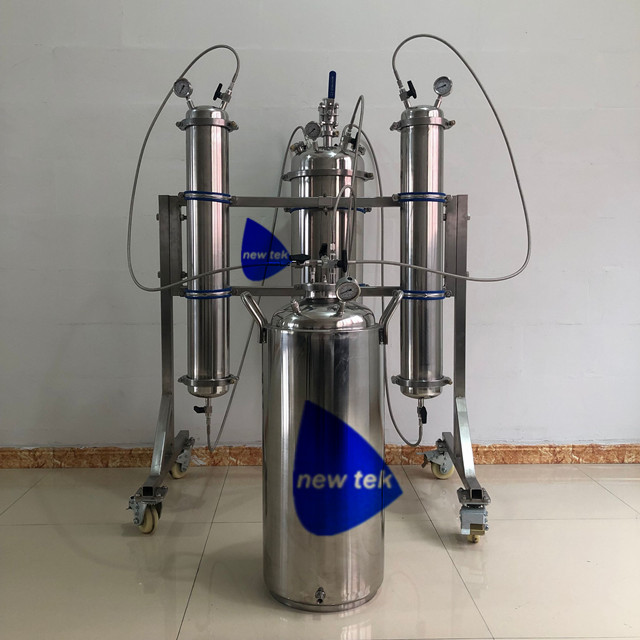 10LB Rack Mounted Bidirectional Butane Closed Loop Extractors w/ Inside Coil Jacketed Solvent Tank