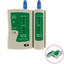 цена на RJ45 RJ11 RJ12 Cat6 LAN Cable Tester Handheld Network Cable Tester Wire Telephone Line Detector Tracker Tool Kit