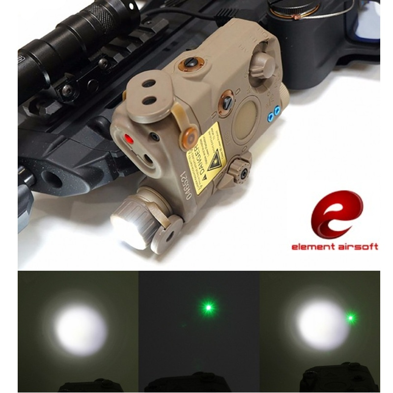 Element EX419 Airsoft Tactical LA-5C UHP Appearance IR Flashlight PEQ Green Laser Light Combo Hunting Weapon Light fma tactical an peq 15 battery box laser red dot laser with white led flashlight and ir lens military airsoft hunting device