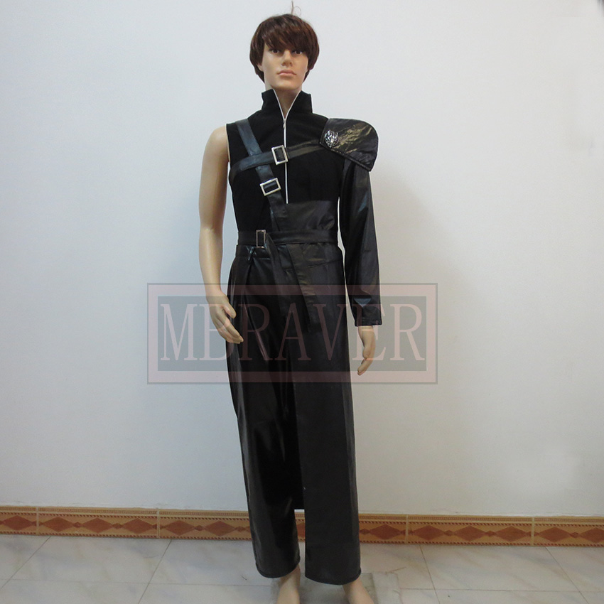 Final Fantasy Cloud Cosplay Black Mens Final Fantasy Cosplay Costume