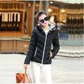 2016 de Moda de Nova Down & Parkas Quente Casaco de Inverno Mulheres Luz de Inverno de Espessura Plus Size Jaqueta Com Capuz Femme Feminino Outerwear