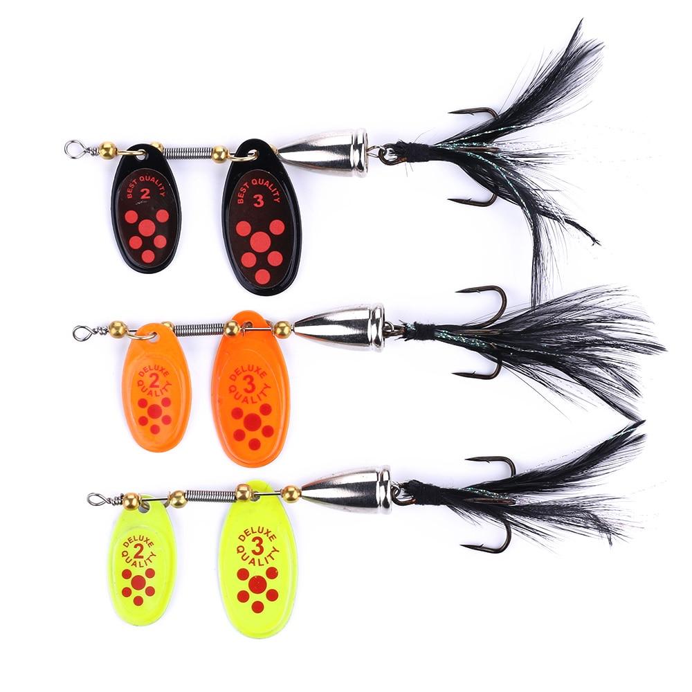 Sequin Spinner Baits Spoon Wobble Hook Fishing Lures Fishing Baits Swimbait